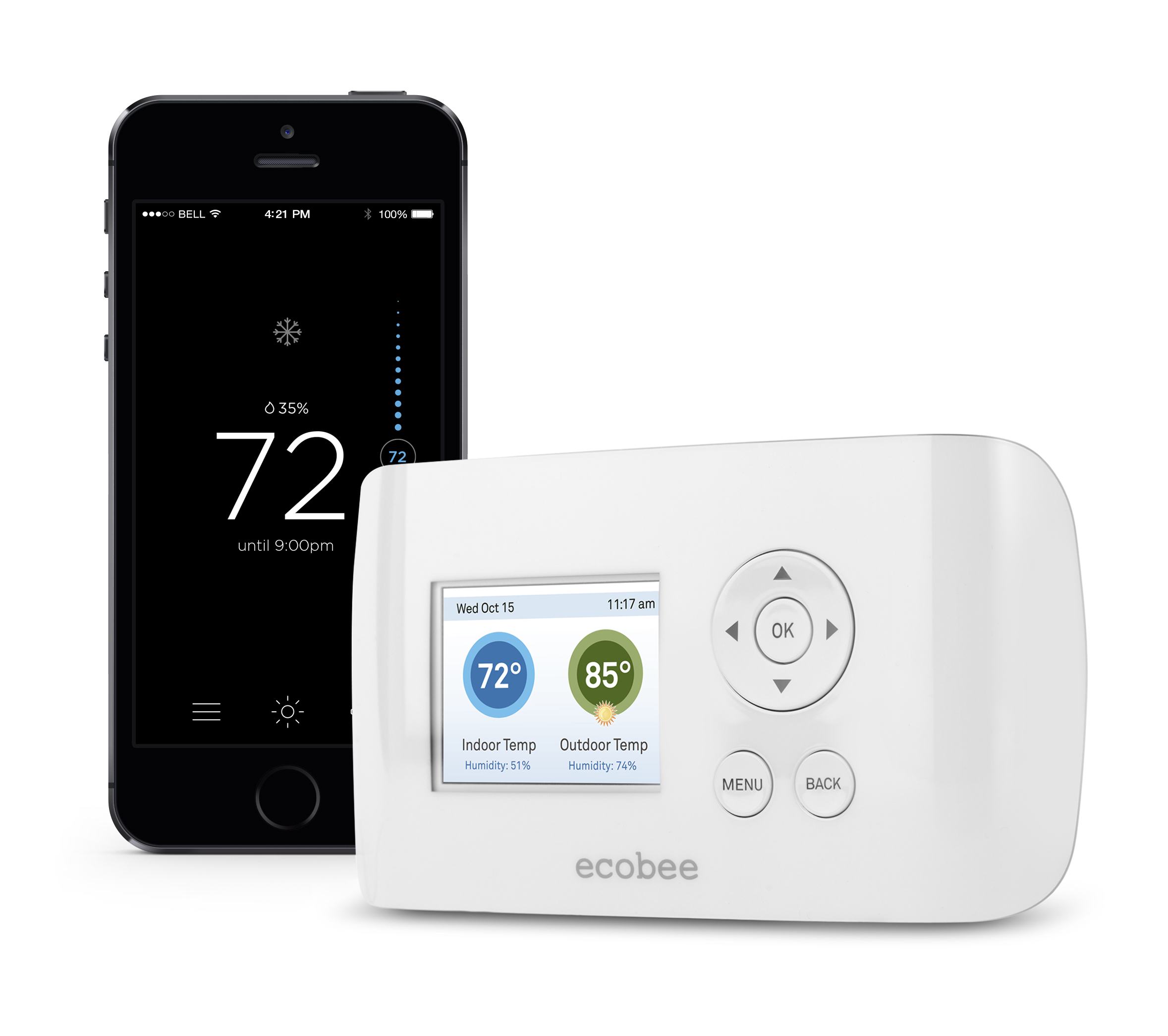 review ecobee smart si smart thermostat smart thermostat guide. Black Bedroom Furniture Sets. Home Design Ideas