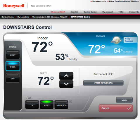honeywell_web_app_downstairs_example