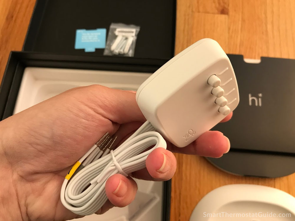 ecobee power extender kit hardware in a hand